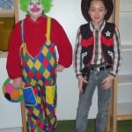 Clown und Cowboy das muss im Fasching sein