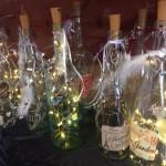romantisches Licht in der Flasche